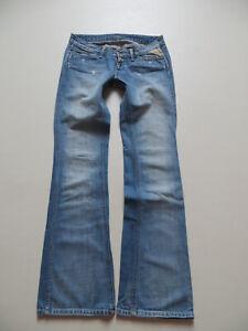 Replay-486-Schlag-Jeans-Hose-W-27-L-34-Vintage-wash-electra-like-Pink-Label
