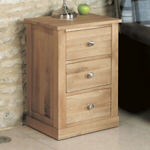 image is loading mobel oak side table 3 drawer