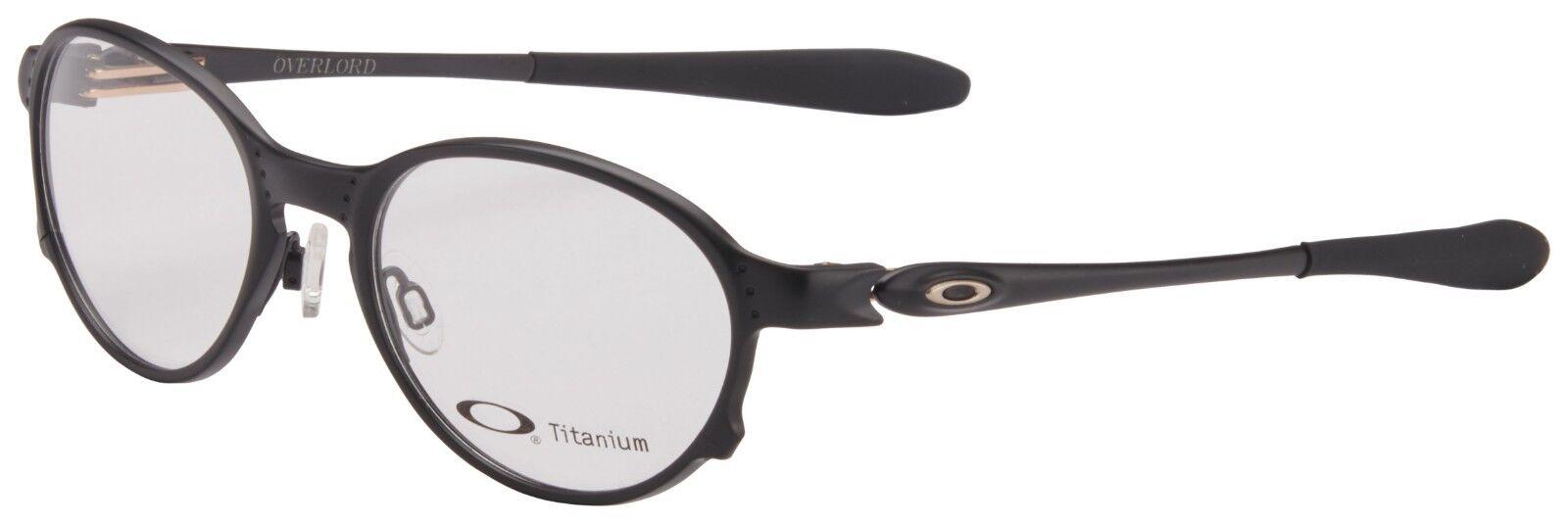 dc54871d53 Oakley Overlord Ox5067-0251 Satin Black Titanium 51mm RX Eyeglasses ...