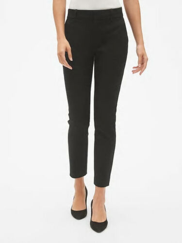 Gap Black Signature Skinny Ankle Pants with Secret Smoothing Pockets Size 8