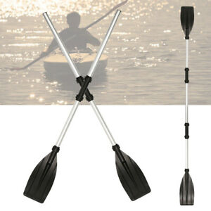 Pagaia-alluminio-doppia-pagaia-alluminio-stechpaddel-set-telescopico-per-Kayak-Canoa-Pagaia