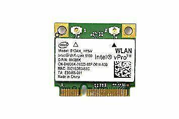 Intel Wifi Link 5100  Dual Band Wifi 2.4G 300M PCI-Express Wlan Card