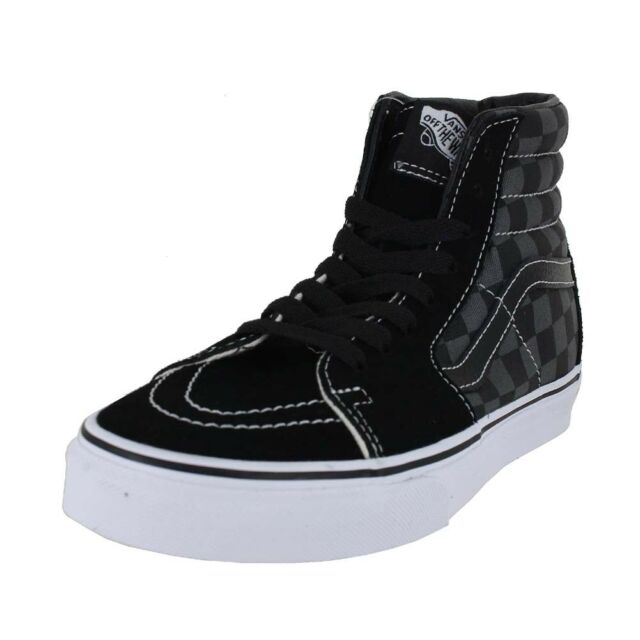 VANS Sk8 Hi Black Pewter Checkerboard Sz 6.5 Classics for sale ... 60bec3a8a