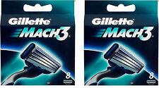 16 Gillette Mach 3  Ersatzklingen, Rasierklingen, Original in OVP NEU 8+8
