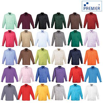 Premier Long Sleeve Poplin Shirt Pr200 Bequem Und Einfach Zu Tragen