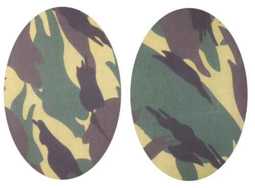 Colour Choice Customise Repair Camouflage Elbow // Knee Patches Iron On /& Sew