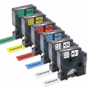 6PK-45010-45013-D1-Label-Tape-Compatible-DYMO-Label-Manager-160-Combo-Set-12mm