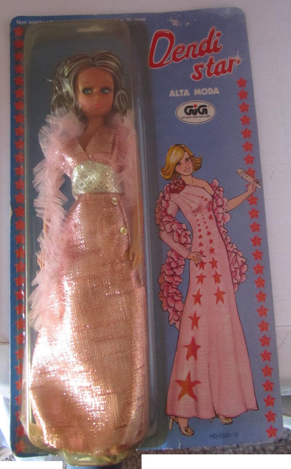 Bambola Dendi Star Alta Moda GIG Vestito rosado anni 80 Doll SPESE GRATIS