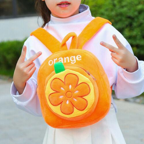 Toddler Kid Children Boy Girl 3D Cartoon Fruit  Backpack School Bag Rucksack US