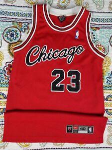 size 40 9c427 cb169 Details about Michael Jordan Chicago Bulls Nike Authentic Rookie Jersey sz  40 M Vintage VTG
