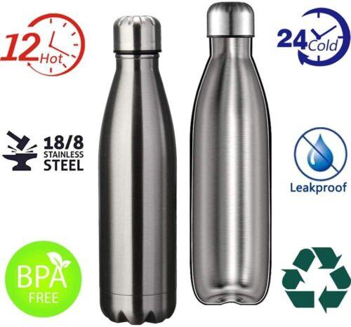 240 x Trinkflasche Edelstahl Vakuum Isolierte Wasserflasche 500ml / 0,5L