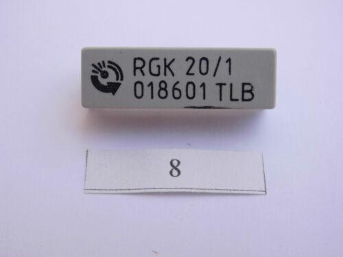 Débosselage relais du boîtier horriblement printausführung relay rgk 20//1 018601 tlb
