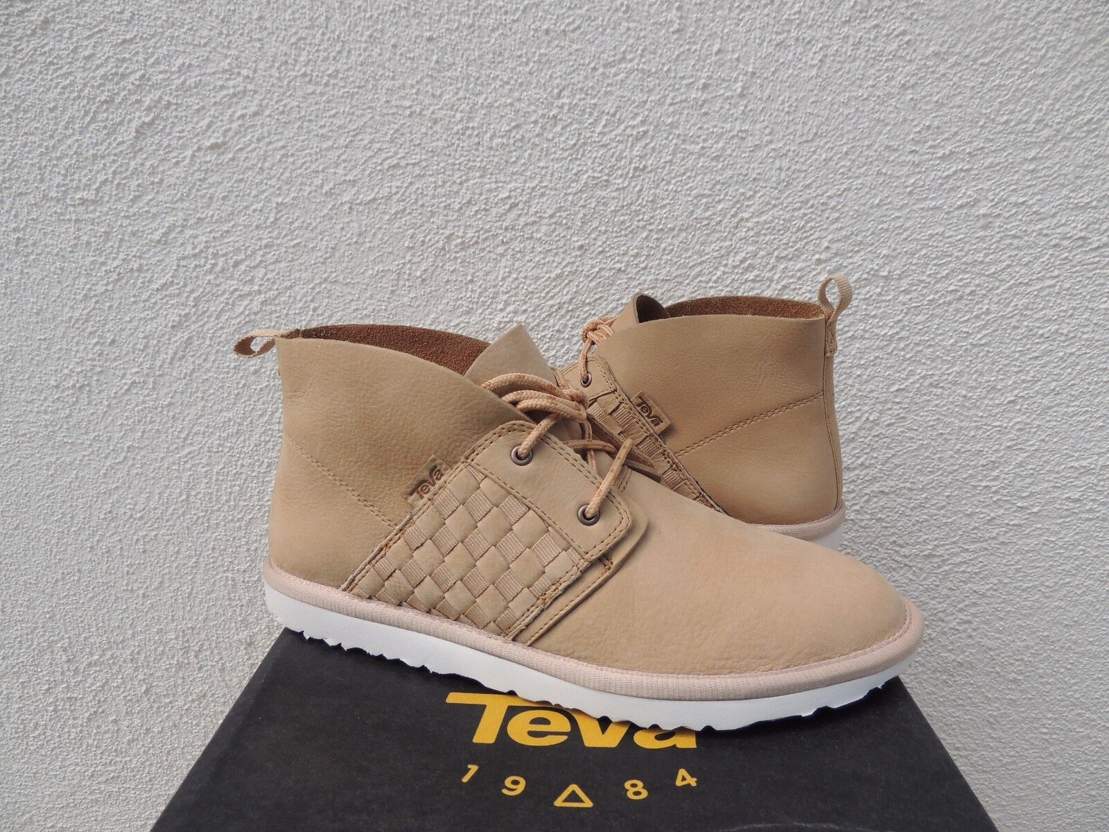 TEVA CorMAR SOFT TAN LEATHER CHUKKA LACE-UP ANKLE bottes, US 7  EUR 38  NWT