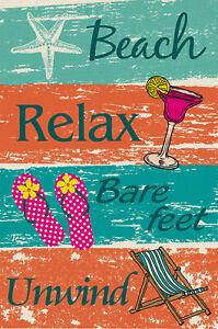 """Morigins Summer Beach Relax Floral Flip Flop Decor Burlap Garden Flag 12/"""" x 18/"""""""