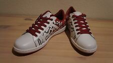 [Free Ship] Acupuncture London Shoes White&Red 'Letters' [Men's 9]