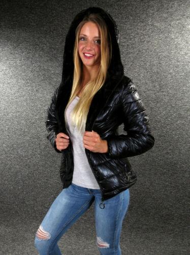 Chaqueta invierno chaqueta inflexión chaqueta negro metálico S M L XL XXL Zazou chaqueta 9542