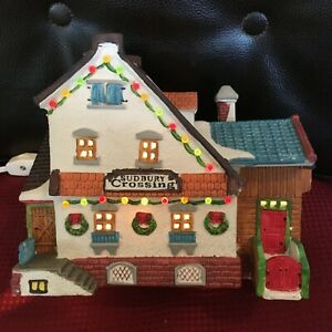 VINTAGE 1994 Lemax SUDBURY CROSSING Light Up Village Christmas EXLENT CONDITION!