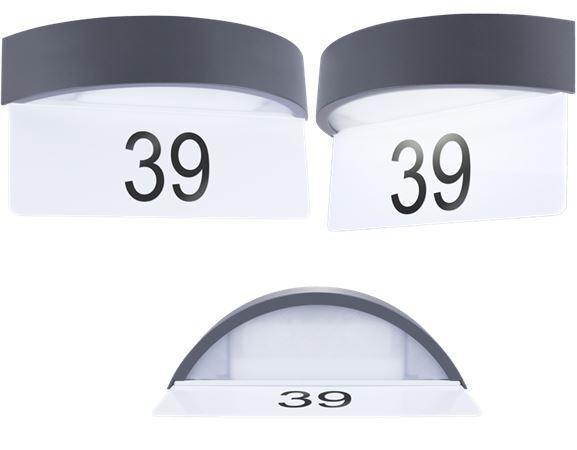 LED Hausnummernlicht Außenwandleuchte Tag/Nacht Sensor Dämmerungssensor Lampe