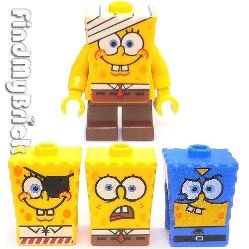 M836 Lego SpongeBob SquarePants Minifig /& 3 Extra Faces 3832 4981 3815 3817 NEW