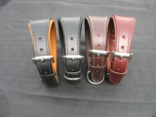 English Leather Whippet//Greyhound//Lurcher Comfort Collars
