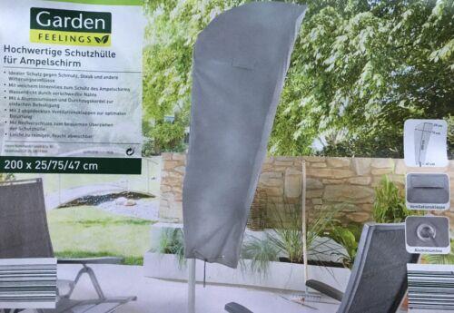 Garden Feelings De Haute Qualité Housse de protection pour parasol 200 x 25//75//47 cm Housse