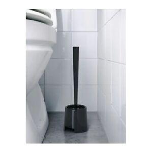 IKEA-Black-Bathroom-Toilet-Brush-and-Holder-Stand