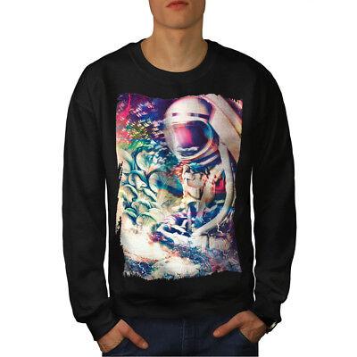 PräZise Wellcoda Astronaut Mystic Space Mens Sweatshirt, Epic Casual Pullover Jumper GroßE Sorten