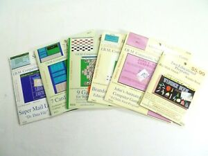 1980s-Lot-Vintage-IBM-Software-Games-Educational-Programs-DOS-Basic-PC-Sealed