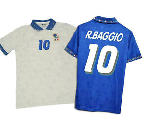 Maglia ITALIA BAGGIO bianca Mondiale 1994 maglietta calcio retro vintage USA 94
