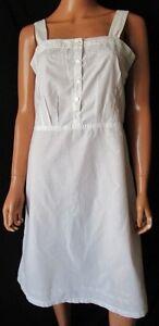 Camicia-da-Notte-Nightdress-Vintage-TG-44-stimata-Colore-Bianco-panna-Cod-S