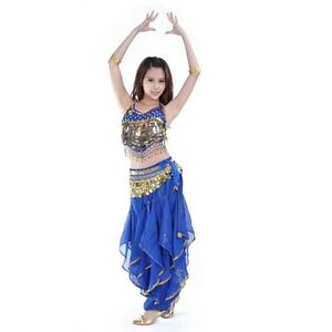 Image is loading Belly-Dance-Costume-Bollywood-Halloween-Indian-Dance-Dress-  sc 1 st  eBay & Belly Dance Costume Bollywood Halloween Indian Dance Dress Carnival ...