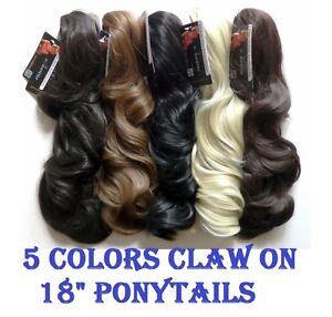 Image Is Loading Long 18 034 Claw On Ponytail 5 Colors