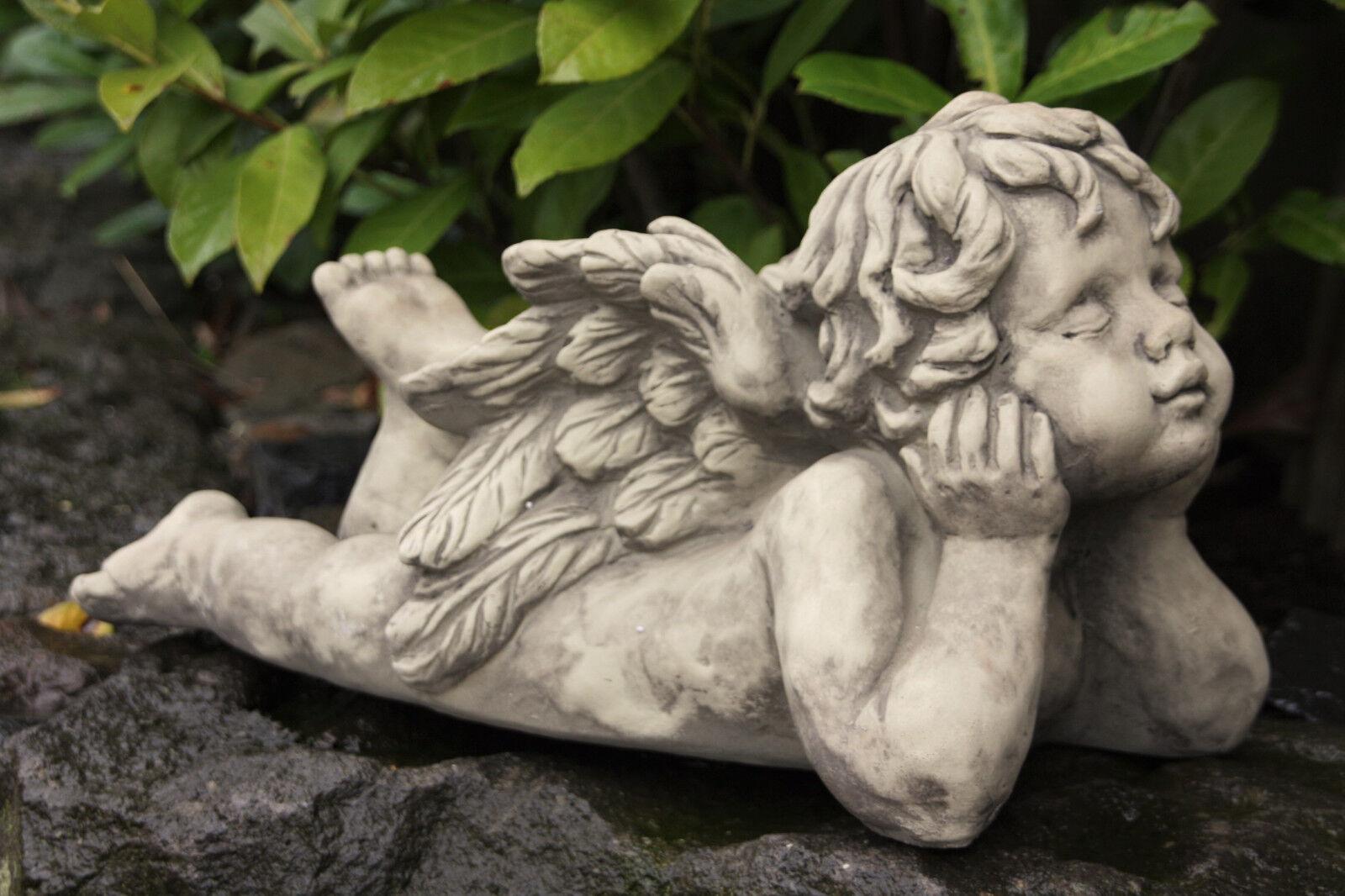 Ange détendu sculpture de steinguss pierre personnage au gel drapeau NEUF v-114336