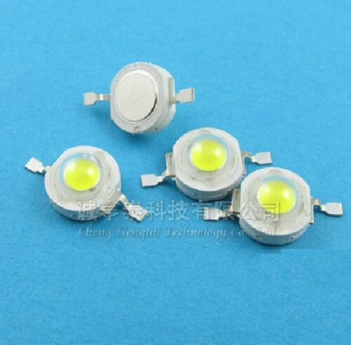 100pcs 1W Pure White SMD LED Beads NEW 100-110LM