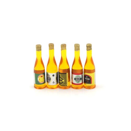 1PCS Random 1:12 Miniature Dollhouse Beer Bottle Drink Bar Kitchen E Es