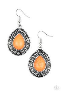 Image Is Loading New Paparazzi 034 Tribal Tango Earrings Blue