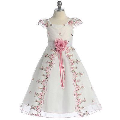 PINK Flower Girl Dresses Bridesmaid Wedding Birthday Party Formal Graduation