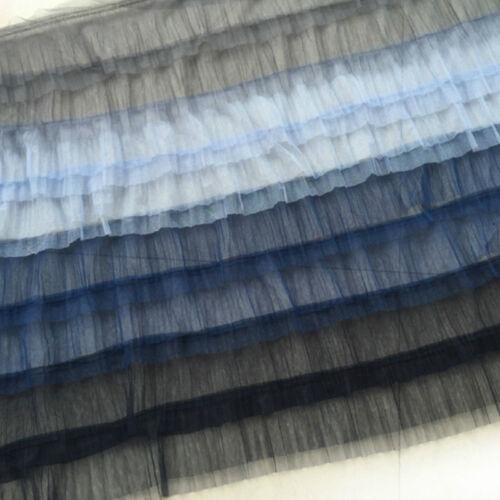 8 Schicht Gestufte Gerüscht Tüll Stoff Gradient Schneiderei Handwerk-material