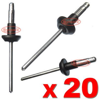 10x Clips Para Volvo Parachoques Rueda Protector de salpicaduras vivienda Pop remaches de metal 979878-6
