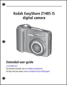Kodak Easyshare Z1485 Digital Camera User Guide Instruction Manual Ebay