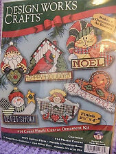 Design Works Counted Cross Stitch Kit # 1676 Signs of Christmas Ornaments