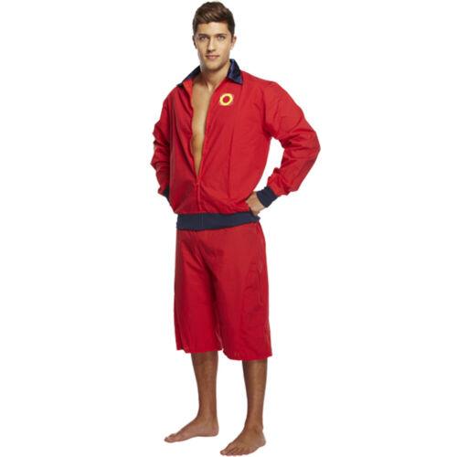 LIFEGUARD Costume Adulto il salvataggio in mare costume anni/' 80 90 Stag PARTY facoltativo Float