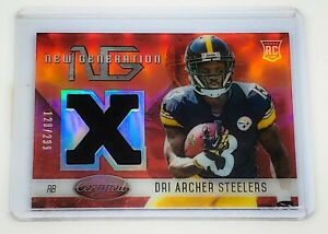 Details about NFL DRI ARCHER 2014 PANINI NEW GENERATION GAME-WORN JERSEY RC REFRACTOR /299 MNT