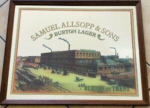 SAMUEL-ALLSOPP-amp-SON-Burton-on-Trent-specchio-pubblicitario-birra-anni-70