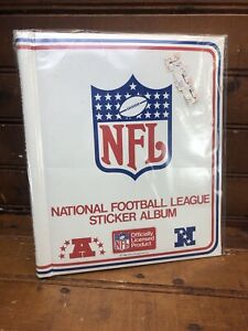 Vintage NOS NEW UNUSED 1983 NFL Sticker Album Rare National Football League