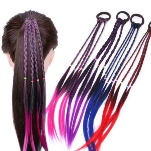 Headband Girls Twist Braid Rope Simple Rubber Band Hair Accessories Kids Wig hi