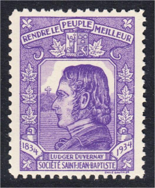 Societe Saint Jean Baptiste 1934 Ludger Duvernay Quebec Canada Etiquette SSJB