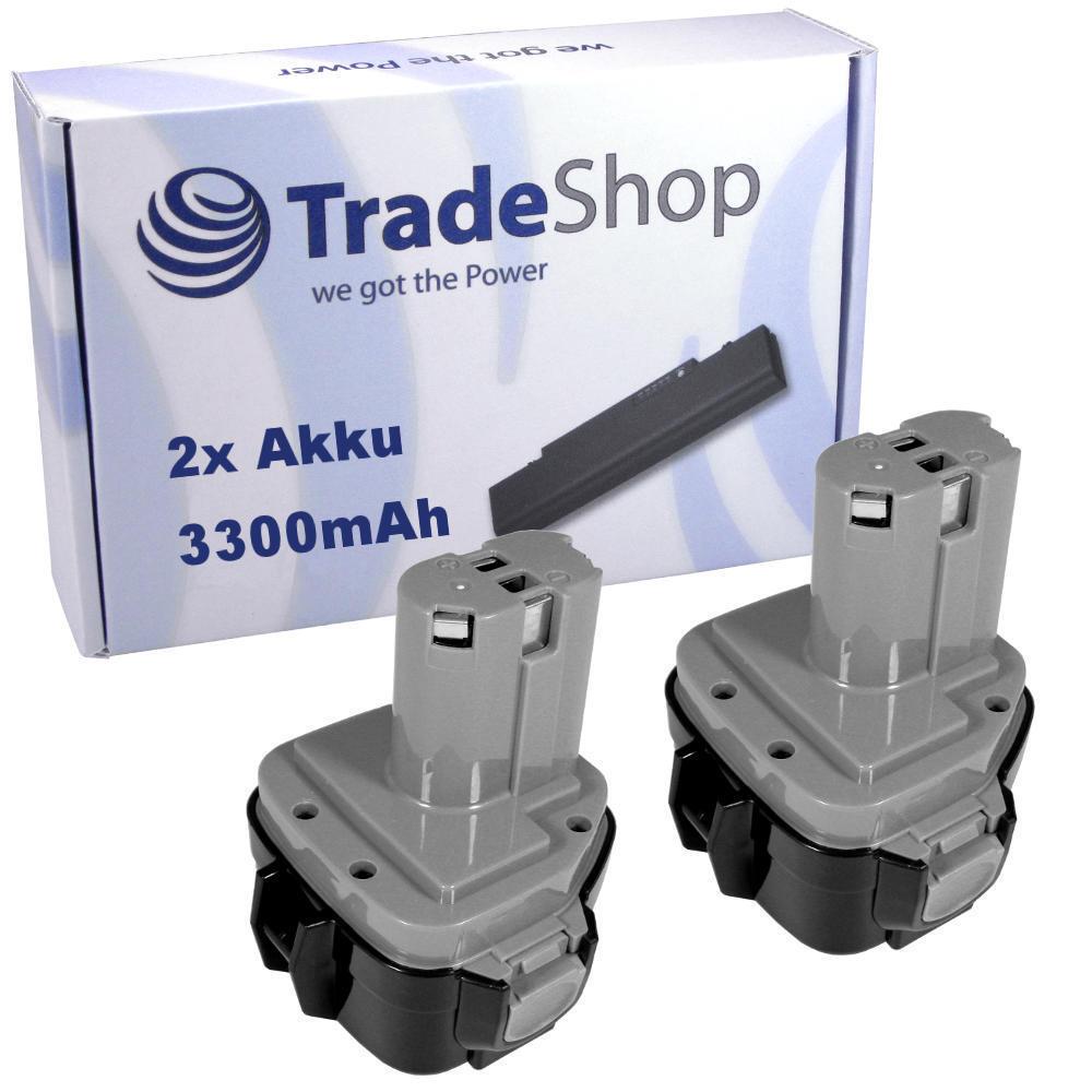 2x AKKU 12V 3300mAh Ni-MH für Makita UC120DR UC120DRA UC120DW SC131D UC120DWAE