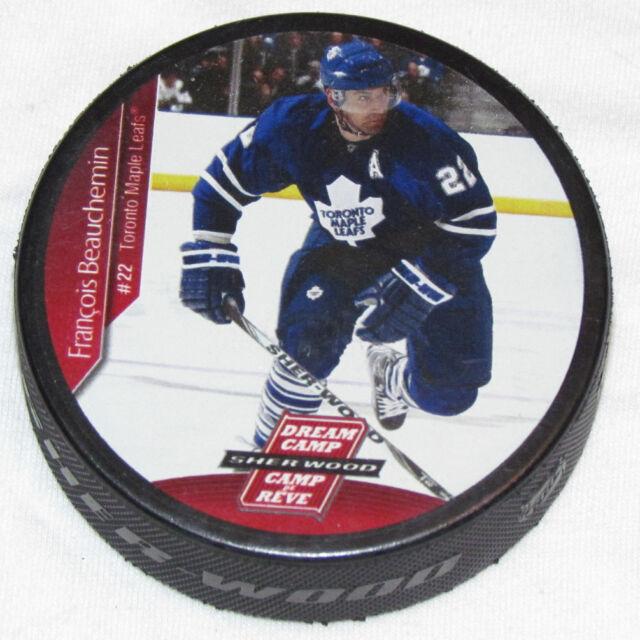 FRANCOIS BEAUCHEMIN Toronto Maple Leafs PLAYER PHOTO PUCK Rare NEW Dream Camp