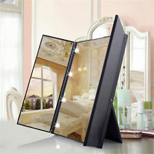square vanity mirror with lights. Makeup Tri sided Foldable Square Shape Portable Lighted LED Beauty Vanity  Mirror